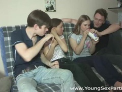 Young sex parties - teens fuck together like crazy tubes