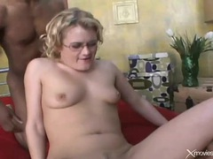 White nerd in glasses double penetrated videos