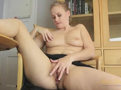 Sexy housewife masturbates as she irons clothes tubes