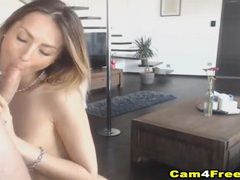 Insanely gorgeous webcam girl dancing and sucking dick tubes