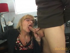 Banging his slutty mature secretary from behind movies at find-best-mature.com