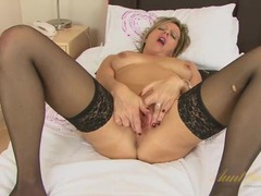 Boots and stockings make mommy super fuckable movies at freekilomovies.com