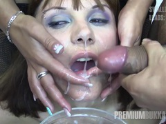 Premium bukkake - michelle swallows 71 huge mouthful cumshots movies at find-best-lesbians.com