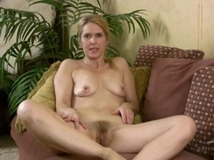 Shiny bikini is wonderfully slutty on a hairy milf movies at adspics.com