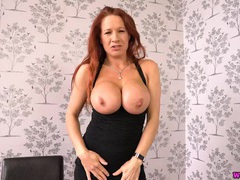 Milf offers joi as you stare at her cleavage tubes