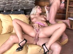 Double teamed girl lets them dp her movies at relaxxx.net