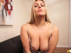 Curvy girl teases as you look down her blouse movies at kilopics.com