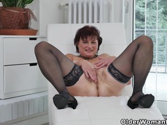 Euro milf danja strips off and dildo fucks herself videos