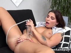 Pussy pump gets her going and a dildo gives her pleasure movies at kilovideos.com