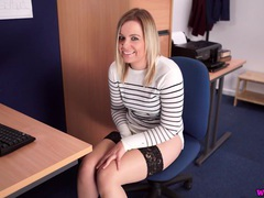 Office girl gets caught masturbating at her desk videos