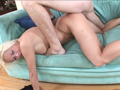 Dick swallowing blonde milf fucked by his fat meat videos