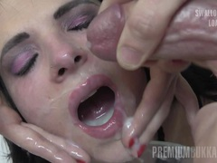 Premium bukkake - elya swallows 38 huge mouthful cumshots videos