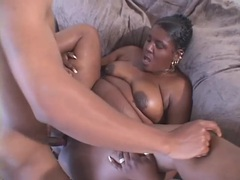 Lusty black slut sucks dick and she gets fucked movies at lingerie-mania.com