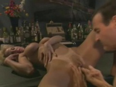 Licking her and fucking her from behind in bar clip