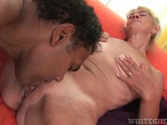 Granny goes interracial on top of black cock movies at kilotop.com