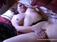 Fiery redhead gets out big juicy tits and masturbates movies