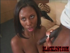 She sucks as much huge black cock as possible videos