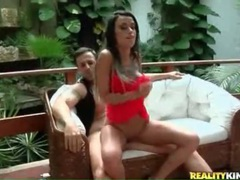 Latina with a killer body teases poolside videos