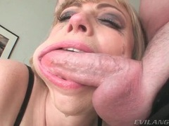 Milf opens mouth so he can deepthroat facefuck her videos