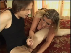 Moms in body stockings in sexy threesome with him videos