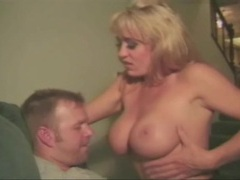 Naughty blonde with fake tits fucked hardcore videos