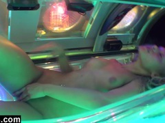 Tanning salon anal fingering movies at lingerie-mania.com