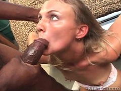 Interracial cunt fuck and cum in her mouth tubes