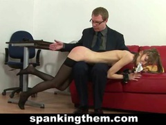 Skinny secretary spanked videos
