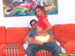 Chick in panties grinds in his lap videos