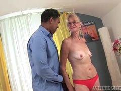 Granny sucks on a massive black cock videos