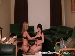 Busty girls suck nipples in lesbian video movies at find-best-lingerie.com