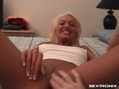 Perfect pussy on a tanned girl stroking his dick tubes