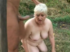 Masked man fucks naughty slut in the grass movies at sgirls.net
