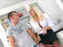 Busty blonde estate agent takes cum in her slutty mouth movies at freekilomovies.com