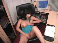 Cucumber fucks the asshole of a curvy shemale movies at find-best-mature.com