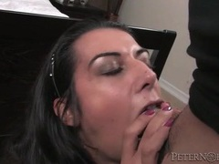 Blowjob from pierced tongue slut ends in facial movies at find-best-mature.com