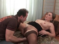 Sexy milf in a pair of stockings licked lustily videos