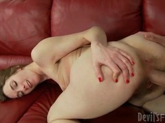 Slim girl with gorgeous hairy pussy fucked hard movies at kilogirls.com
