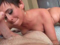 Slut licks all over his dick and balls in pov video movies at find-best-hardcore.com