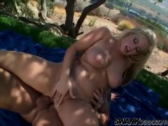 Big dick anal sex outdoors with a cute blonde movies