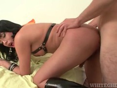 Shemale leather babe fucked in the ass from behind movies at kilotop.com