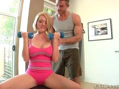 Girl stops workout to suck on his balls movies at find-best-tits.com