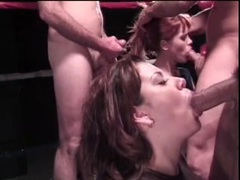 Watch a blowjob competition in a boxing ring videos