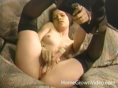 Teenager in pretty nylons masturbates and sucks cock movies at find-best-babes.com