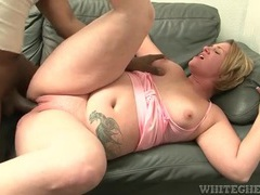 Big black cock fucks a fatty in her shaved pussy videos