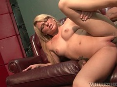 Cute milf nerd fucked and taking cumshot in armpit videos