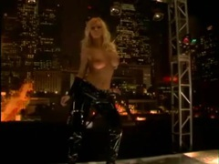 Blondes in latex dance on the stage movies