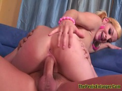 Sexy ally screwed her pink pussy and got facial movies at find-best-babes.com