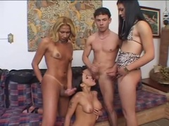 Cunt and ass fucking in bisexual foursome movies at find-best-babes.com