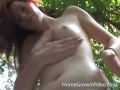 Redhead shows tiny tits in woods and sucks dick movies at find-best-babes.com
